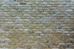 Den gamla färgrika tegelstenväggen - textur royaltyfri foto