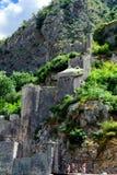 Den gamla fästningen av Kotor den medeltida staden Är en delUNESCOvärldsarv Royaltyfri Fotografi