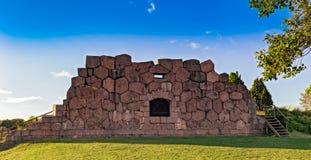 Den gamla fästningen fördärvar, Bomarsund, Aland öar, Finland Arkivfoto