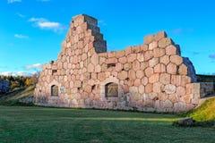 Den gamla fästningen fördärvar, Bomarsund, Aland öar, Finland Royaltyfri Fotografi