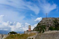 Den gamla fästningen, Korfu, Grekland Royaltyfri Fotografi