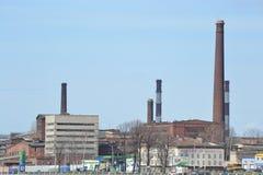 Den gamla fabriksbyggnaden Royaltyfri Foto