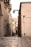 Den gamla gatan av Matera Arkivbild