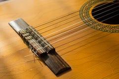 Den gamla gitarren Arkivbild