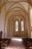 Den gamla gotiska kyrkan i Carthusian kloster i Pleterje, Slovenien Royaltyfria Foton