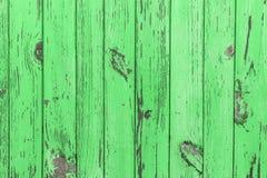 Den gamla gröna wood texturen med naturliga modeller Arkivfoto