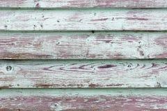 Den gamla gröna wood texturen med naturliga modeller Royaltyfri Fotografi