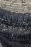 Den gamla gummihjullögnen på de Arkivfoto