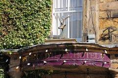 Den gamla Hall Hotel, Buxton Arkivbilder