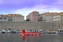 Den gamla hamnen på Dubrovnik Royaltyfri Foto