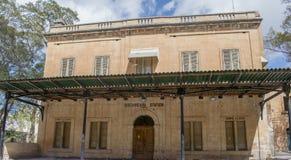 Den gamla järnvägsstationen Birkirkara Malta Arkivbild