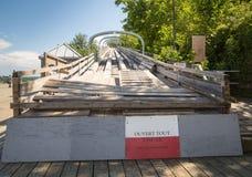 Den gamla kälken inkörda Quebec City arkivfoton