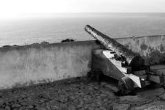 Den gamla kanonen Arkivfoton