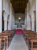 Den gamla kloster på överkanten av monteringen Conero, Marche, Italien Arkivbild