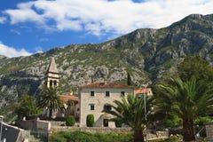Den gamla kyrkan av St Matthew i Kotor, Montenegro Arkivfoton