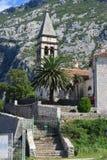 Den gamla kyrkan av St Matthew på Kotor Riviera Montenegro Arkivbild