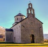Den gamla kyrkan, fläckod-granater är synlig på väggar royaltyfria foton