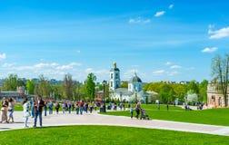 Den gamla kyrkan i Tsaritsyno Royaltyfri Fotografi
