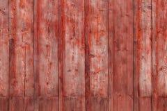 Den gamla röda wood texturen med naturliga modeller Royaltyfri Bild