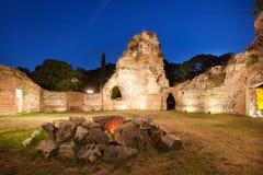Den gamla Roman Baths av Odessos, Varna, Bulgarien Royaltyfria Foton