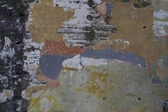 Den gamla rostiga bakgrunden för textur för målarfärgstålyttersida arkivfoton
