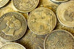 Den gamla ryska antikviteten försilvrar mynt arkivbild