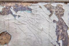 Den gamla sjaskiga målarfärgen skrapas Royaltyfri Fotografi
