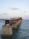 Den gamla sju mil bron, till Key West Arkivbild