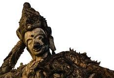 Den gamla sova Buddha Arkivbild