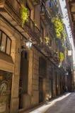 Den gamla staden av Barcelona Arkivbilder