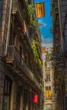 Den gamla staden av Barcelona Arkivbild