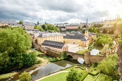 Den gamla staden av den Luxembourg staden Royaltyfria Foton