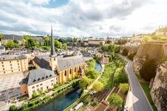 Den gamla staden av den Luxembourg staden Arkivfoton