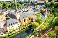 Den gamla staden av den Luxembourg staden Arkivbild