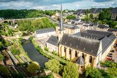 Den gamla staden av den Luxembourg staden Arkivfoto
