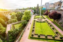 Den gamla staden av den Luxembourg staden royaltyfria bilder