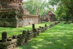 Den gamla staden av dyrkanställegränsmärken, historia parkerar av si-Satchanalai, det Sukhothai landskapet arkivfoto