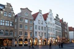 Den gamla staden av Munster, Tyskland Arkivfoton