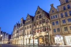 Den gamla staden av Munster, Tyskland Arkivfoto
