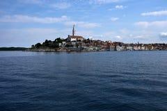 Den gamla staden av Rovinj i Kroatien arkivbild