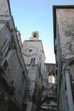 Den gamla staden av Spalato i Kroatien arkivbild