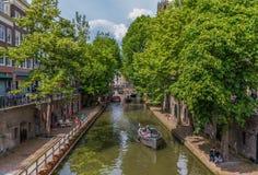 Den gamla staden av Utrecht, Netherland royaltyfri foto