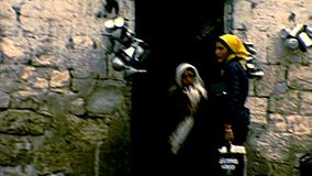 Den gamla staden Bethlehem arkivfilmer