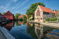 Den gamla staden i Århus, Danmark Royaltyfri Fotografi