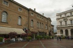 Den gamla staden i Bergamo, Italien arkivfoto