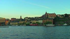 Den gamla staden i Stockholm, Sverige arkivfilmer