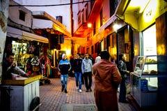 Den gamla staden tanger av Marocko royaltyfria bilder