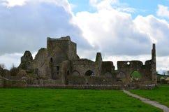 Den gamla stenen fördärvar av den Hoare abbotskloster i Irland Royaltyfri Bild