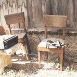Den gamla stolen Royaltyfri Fotografi