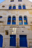 Den gamla synagogan, i Chablis arkivfoton
